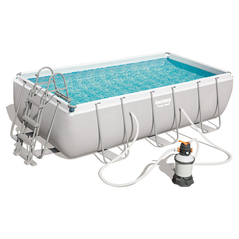 Piscine Bestway Rectangulaire Power Steel 404 x 201 x 100 cm avec filtre à sable