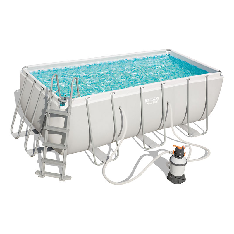 Piscine Bestway Rectangulaire Power Steel 412 x 201 x 122 cm avec filtre à sable