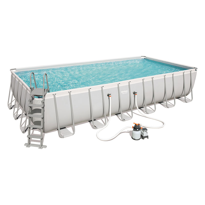 Piscine Bestway Rectangulaire Power Steel 732 x 366 x 132 cm avec filtre à sable