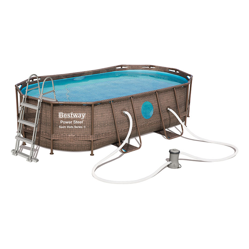 Piscine Bestway Ovale Power Steel Vista 427 x 250 x 100 cm