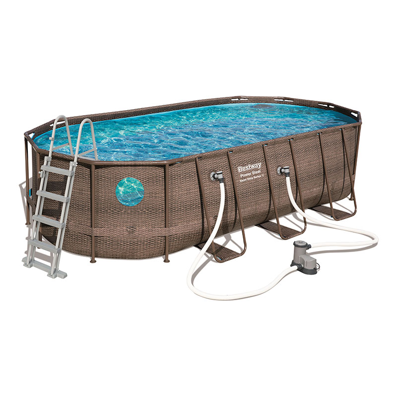 Piscine Bestway Ovale Power Steel Vista 549 x 274 x 122 cm