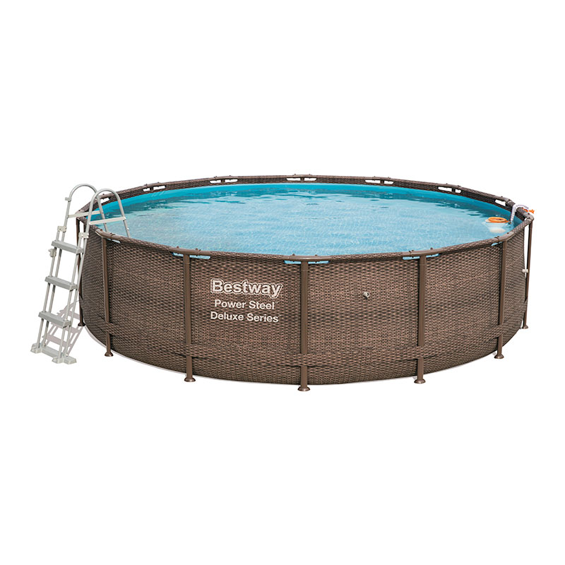 Piscine Bestway Ronde Power Steel Deluxe Rotin 427 x 107 cm