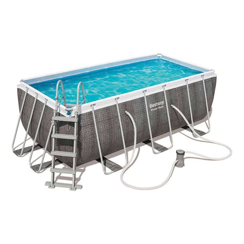 Piscine Bestway Rectangulaire Power Steel Rotin 412 x 201 x 122 cm