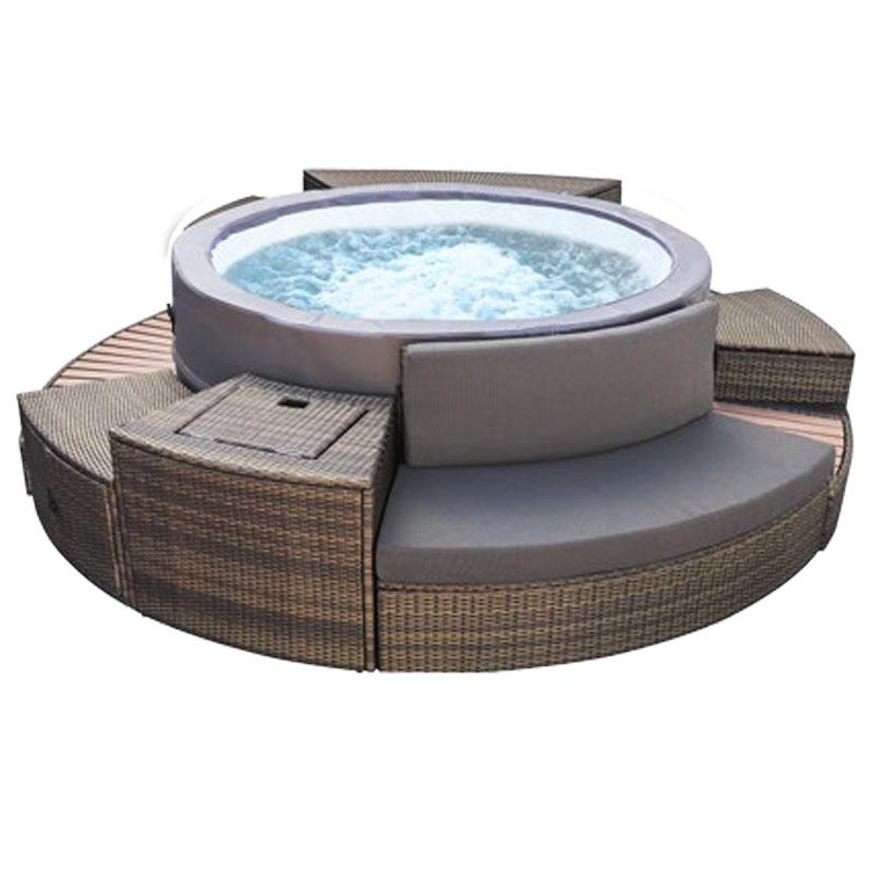 Spa portable netspa vita premium 6 places avec mobilier Mobilier piscine