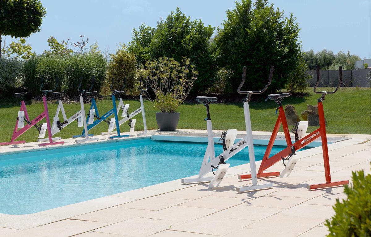 Aquabike aquaness v1 jaune - Aquabiking piscine keller ...