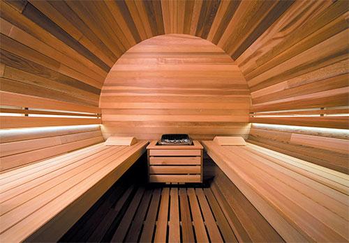 Sauna vapeur ext rieur barrel vap 240 cm 4 personnes for Sauna vapeur exterieur