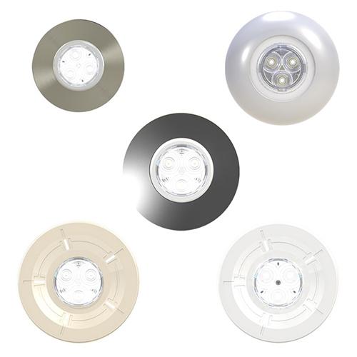 projecteur led couleur mini brio x15 avec enjoliveur mini chroma gris. Black Bedroom Furniture Sets. Home Design Ideas