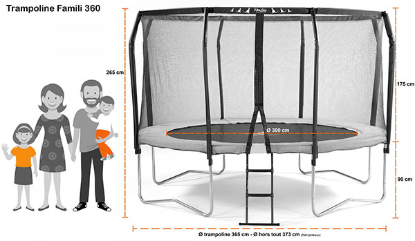 trampoline famili 360 avec chelle. Black Bedroom Furniture Sets. Home Design Ideas