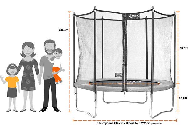 trampoline funni pop 250. Black Bedroom Furniture Sets. Home Design Ideas