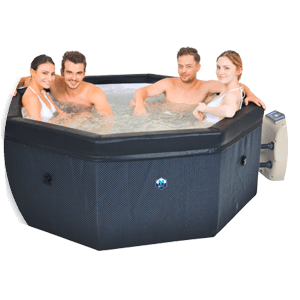 spa portable netspa octopus 6 places avec mobilier promo. Black Bedroom Furniture Sets. Home Design Ideas