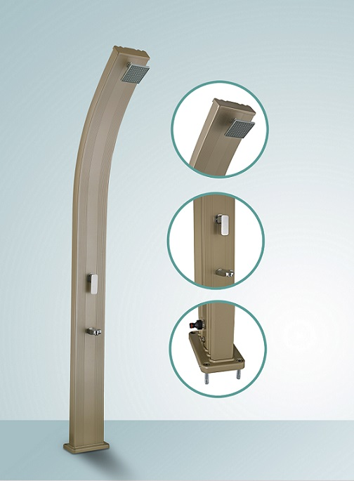 douche solaire en alu transportable. Black Bedroom Furniture Sets. Home Design Ideas