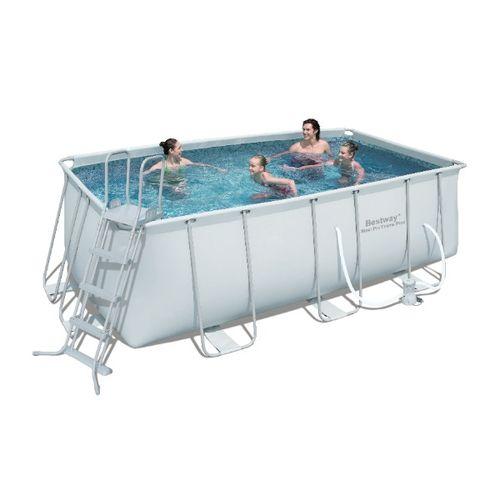 piscine bestway steel pro frame 412x201xh122 cm avec. Black Bedroom Furniture Sets. Home Design Ideas
