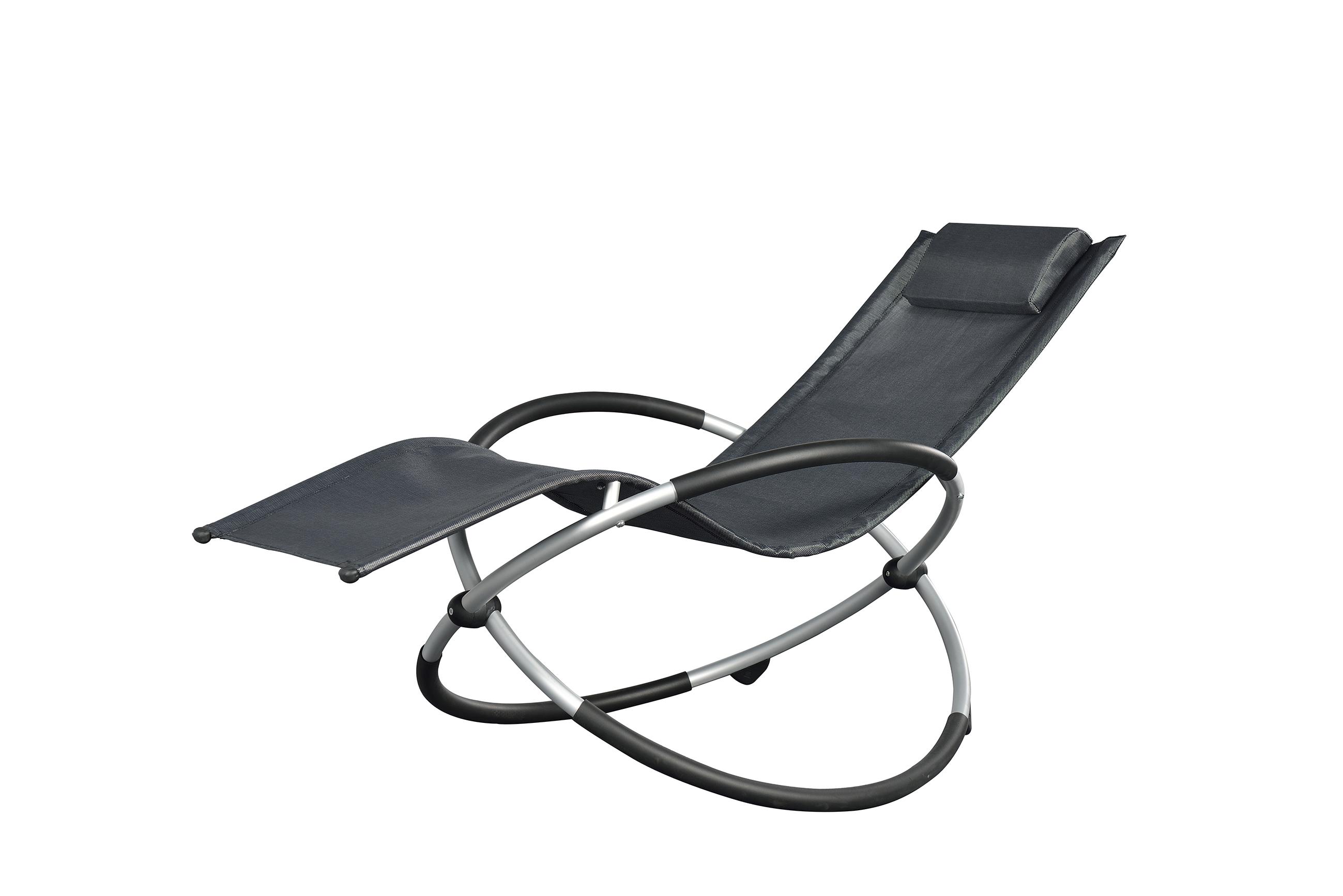 chaise longue relax ellipse gris. Black Bedroom Furniture Sets. Home Design Ideas