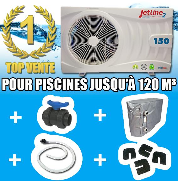 Jetline2 15kw pour 120 m3 pompe a chaleur piscine for Pompe a chaleur ou rechauffeur pour piscine
