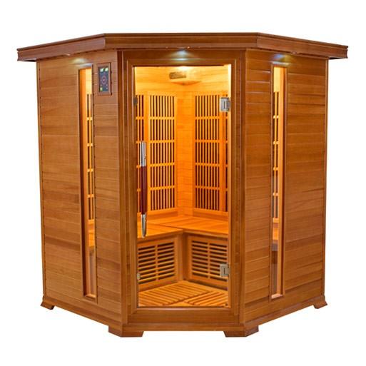 Luxe 3 4 places sauna infrarouge - Sauna infrarouge utilisation ...