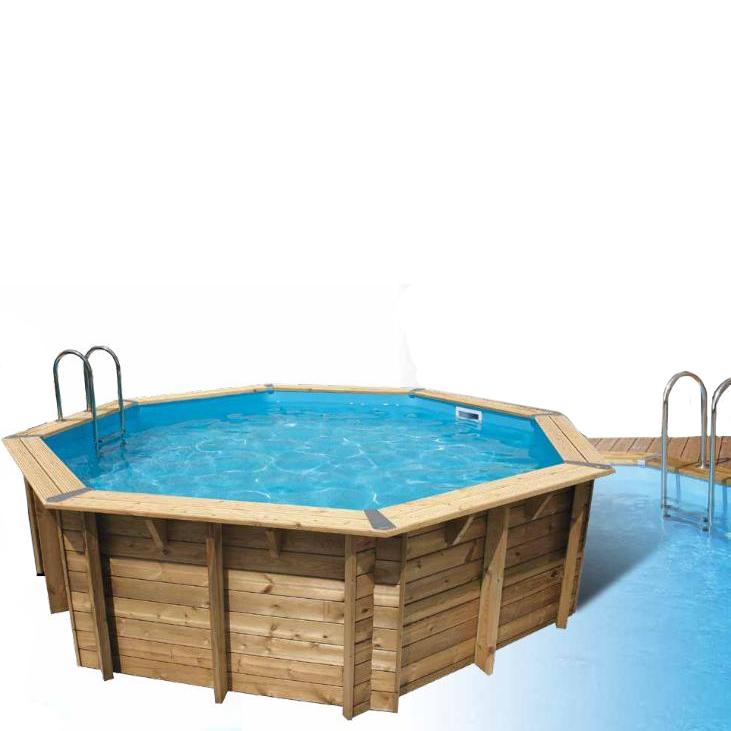 Piscine bois ocea d430 bleu for Promo piscine bois