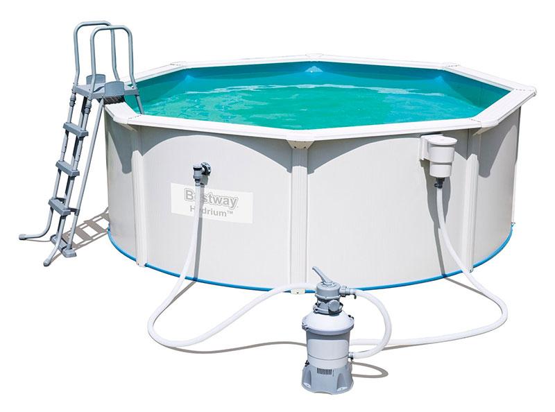 piscine bestway ronde hydrium steel wall 360 x 120 avec filtre sable. Black Bedroom Furniture Sets. Home Design Ideas