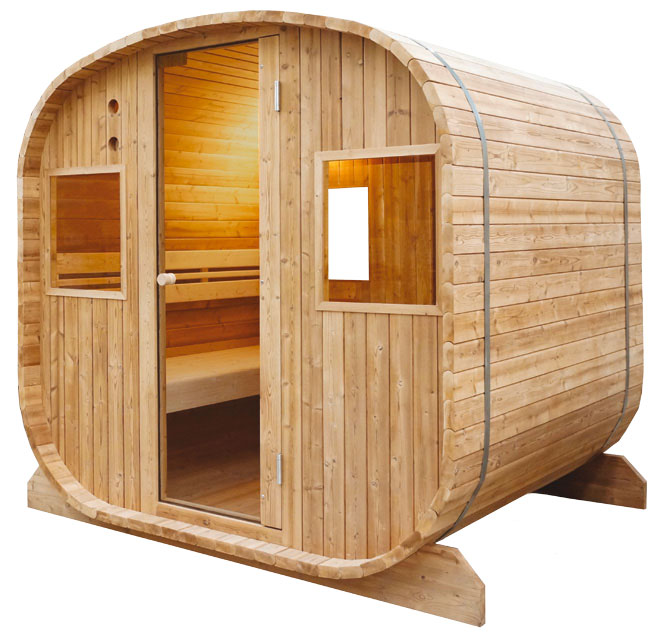 sauna vapeur ext rieur barrel 6 places. Black Bedroom Furniture Sets. Home Design Ideas