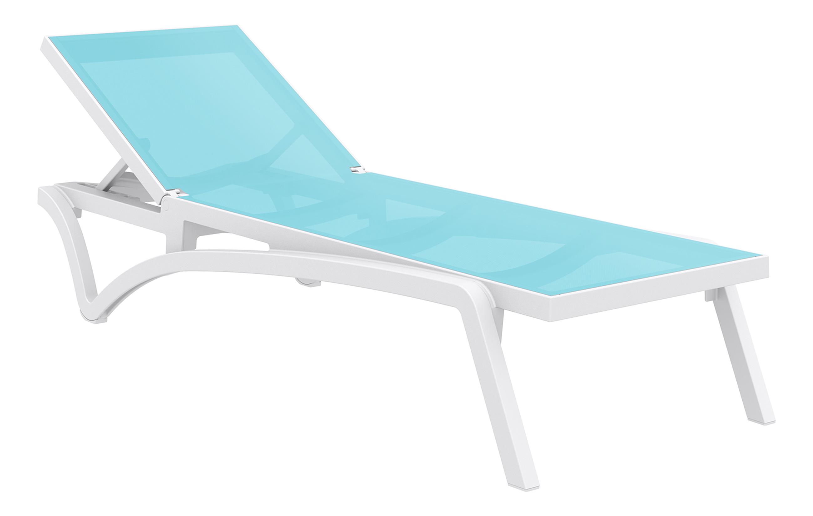 Transat costa blanc turquoise for Chaise longue azul turquesa