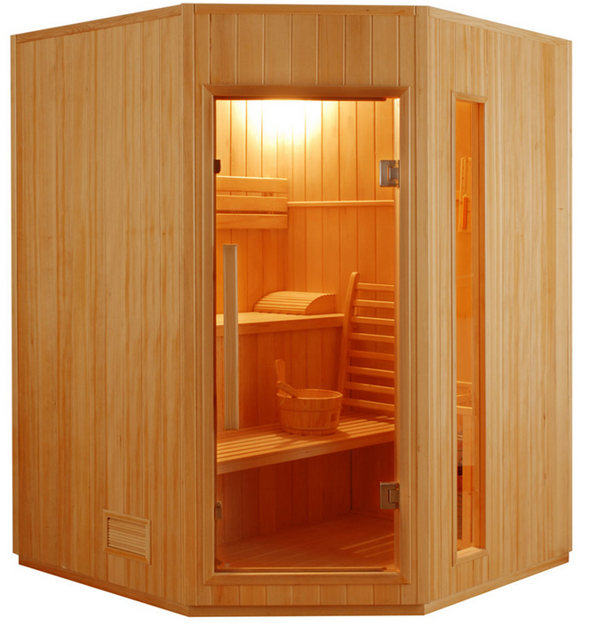 sauna vapeur zen angulaire 3 4 places. Black Bedroom Furniture Sets. Home Design Ideas